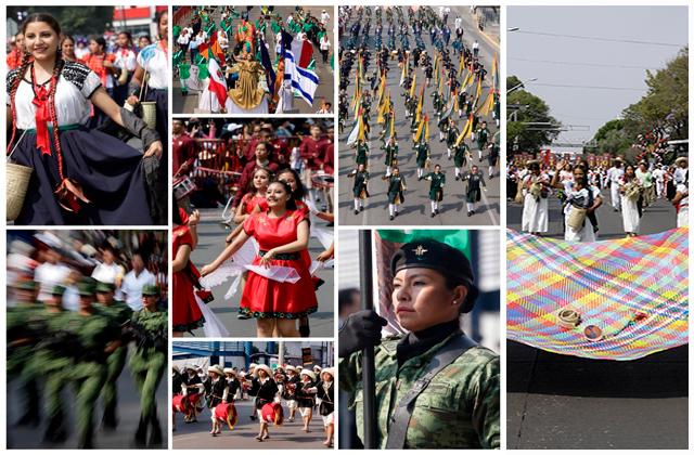 Tiene Puebla su desfile del 5 de mayo más numeroso en 8 años