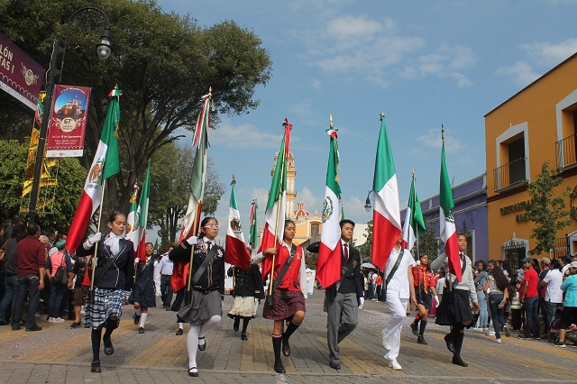 Celebran la Independencia en San Pedro Cholula
