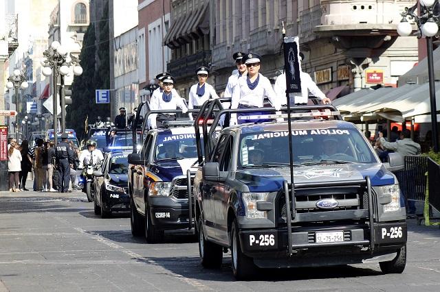 Gasta Puebla capital 9.7 mdp en vehículos para patrullaje