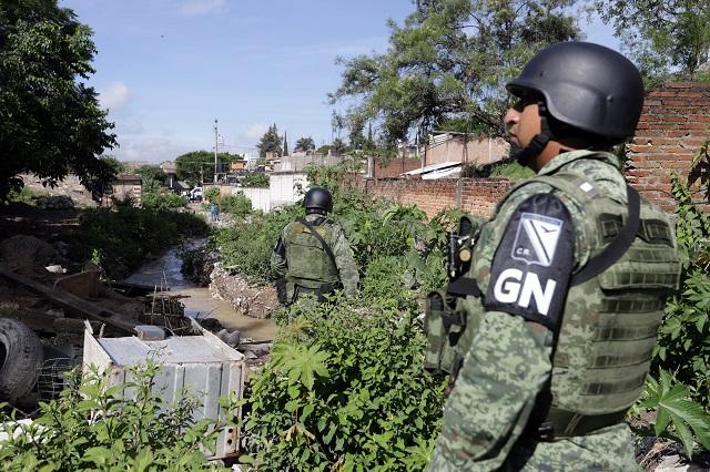 Hay en Puebla más de 2 mil elementos de la Guardia Nacional