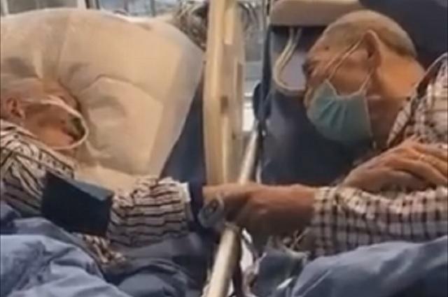 Mira la conmovedora despedida de dos ancianitos que contrajeron coronavirus