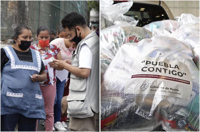 Reparten despensas en Puebla sin aclarar costos ni padrones