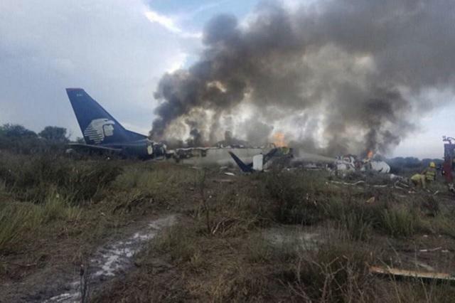 Publican otro video del desplome del avión en Durango