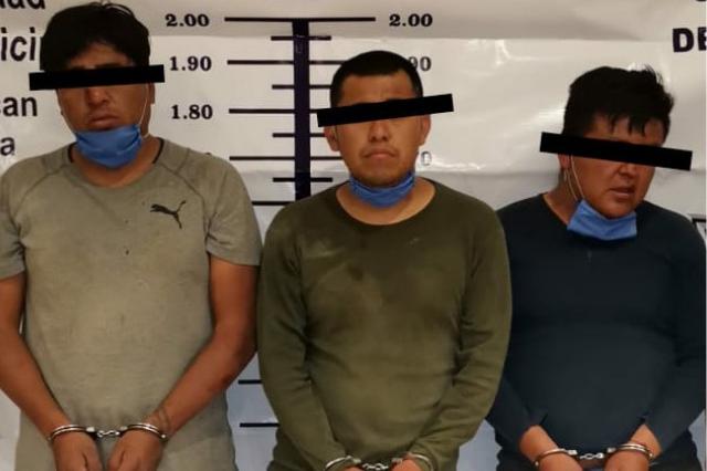 Caen en Texmelucan asaltantes de transportistas; llevaban droga