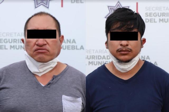 Aseguran en Puebla capital dos kilos de posible marihuana