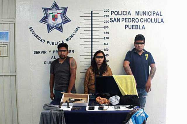 Detenida en San Pedro Cholula presunta banda dedicada al robo