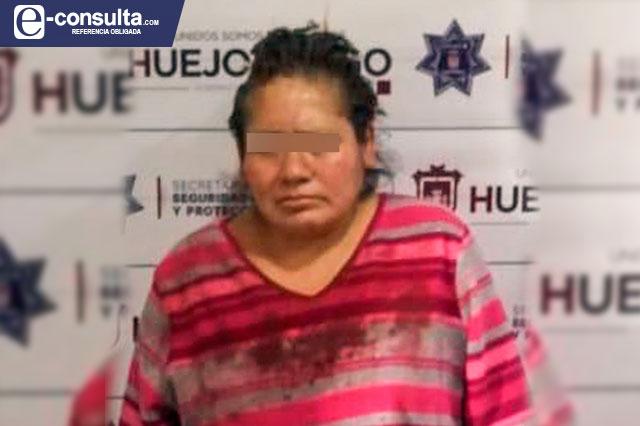 Aseguran a mujer por intentar ahorcar a su hija en Huejotzingo