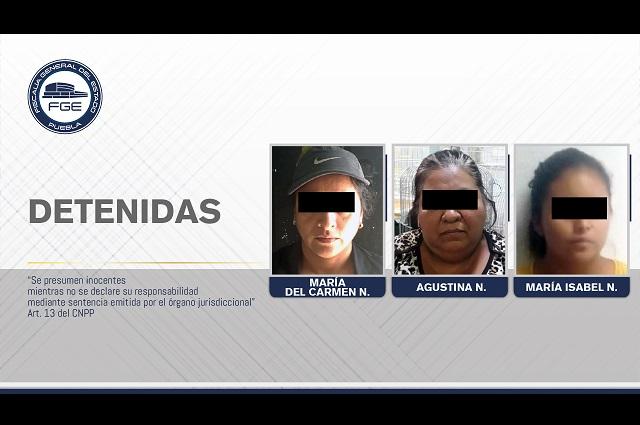 FGE detuvo a tres mujeres y aseguró 250 aves en La Acocota