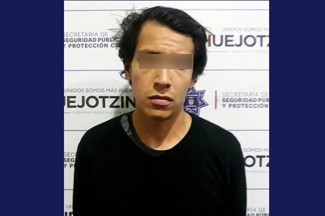 Policía de Huejotzingo detiene a presunto ladrón de casas