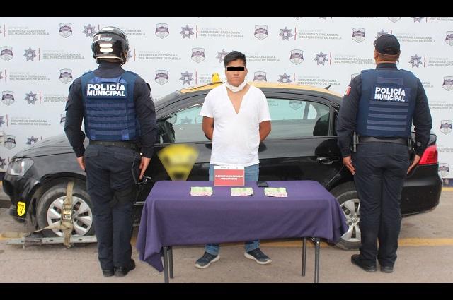 Asaltó a cuentahabiente pero pronto lo atraparon policías