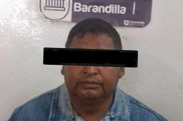 Detiene policía de Coronango a hombre por portación de arma de fuego