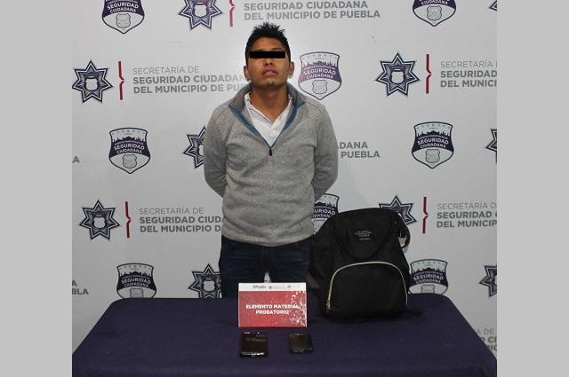 Persiguen y atrapan a asaltante de la Ruta 28 en Puebla