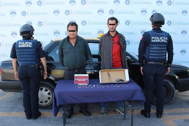 Por asaltar papelería en San Manuel quedaron detenidos