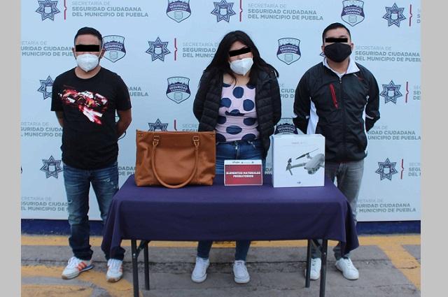 Robaron dron de 50 mil pesos pero fueron atrapados, en Puebla