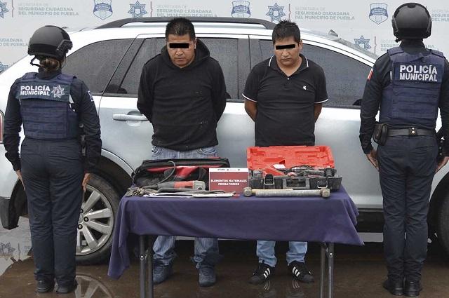 Detienen en Puebla a los que robaron en una constructora