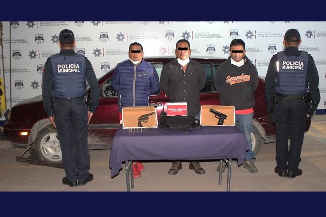 Detienen a 3 en La Paz por llevar un arma sin licencia