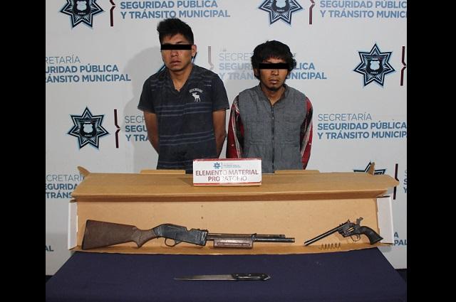 Detienen a dos por intento de homicidio y portación ilegal de arma