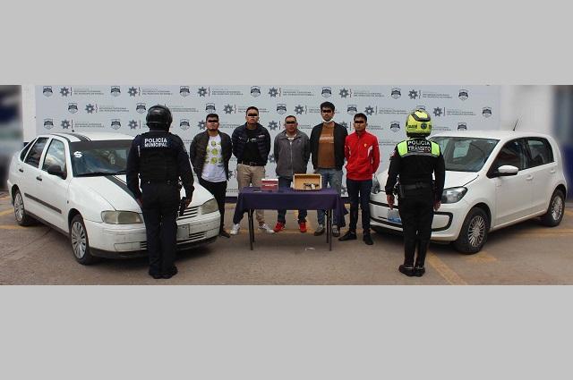 Cae banda que asaltaba a transeúntes en Puebla capital