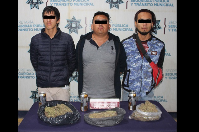 Policía de Puebla aseguró kilo y medio de marihuana