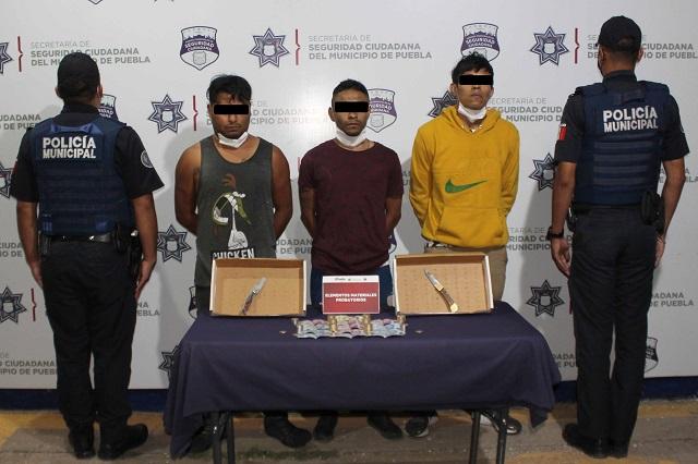 Capturan a banda que asaltaba gasolinerías en Puebla