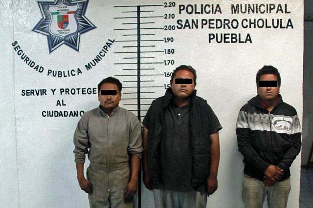 Detienen en Cholula a huachicoleros; ofrecieron 13 mil pesos de soborno
