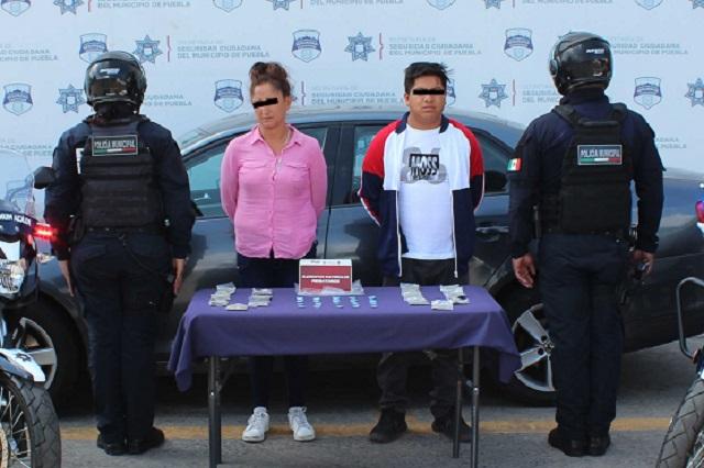Detienen a tres presuntos narcomenudistas