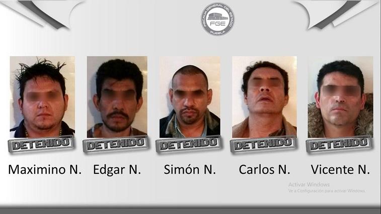 Caen 5 sujetos en Puebla que estarían ligados a doble asesinato