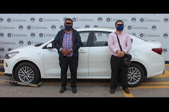 Policía municipal recupera vehículo robado en Amazoc