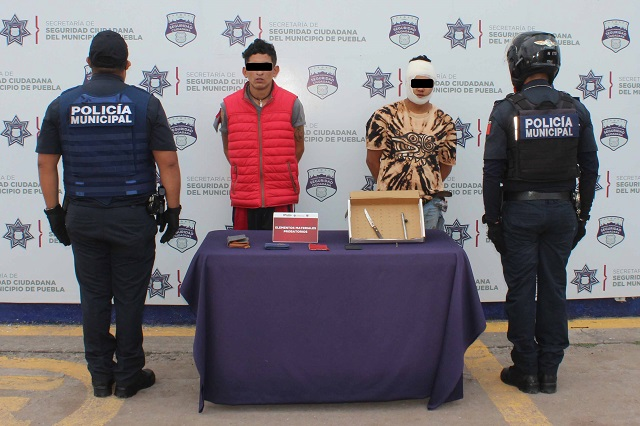 Capturan a dos sujetos tras robo a usuarios de la ruta Bulevares