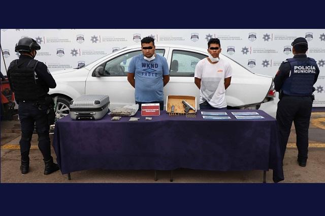 Caen 2 sujetos ligados a venta y distribución de droga en Puebla
