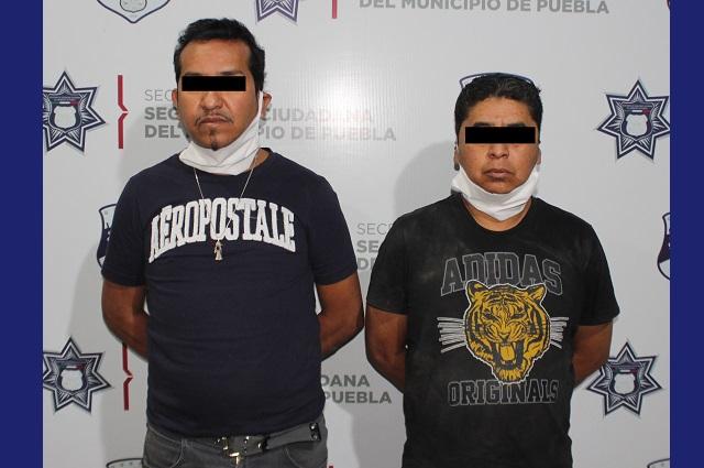 Capturan a 2 sujetos tras asaltar academia de Baile en El Mirador