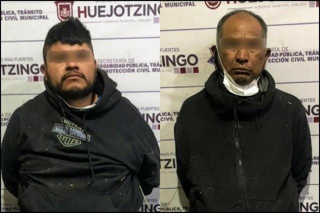 Frustra policía robo a empresa en Huejotzingo; hay 4 detenidos