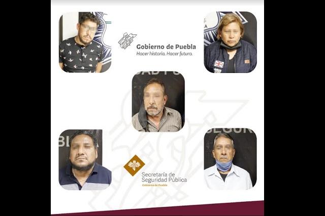 """Caen 7 de la banda de """"la bolita"""", del Centro de Puebla"""