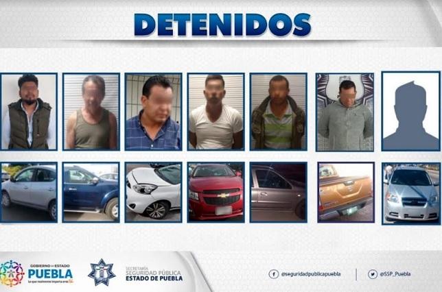 La policía estatal detuvo a 7 que conducían autos robados