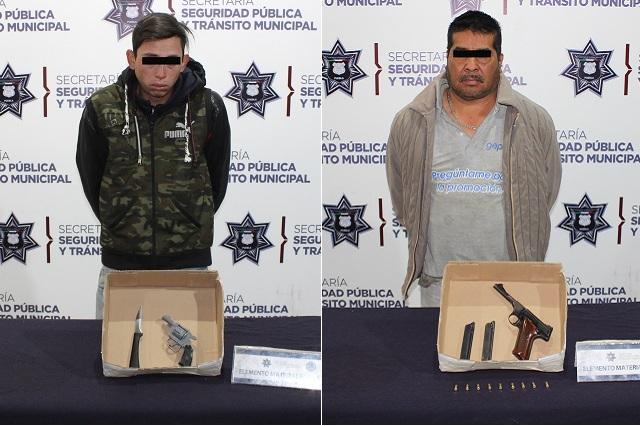 Capturan a dos hombres armados en Bosques y la Jorge Murad