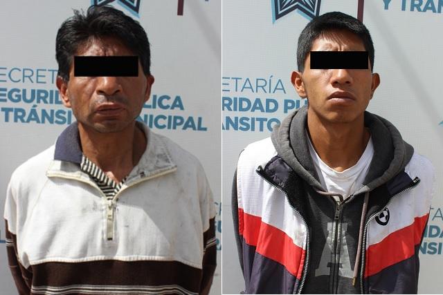 Policía capitalina detiene a dos con una decena de rines robados