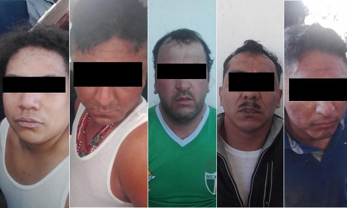 Caen cinco personas por robo a cuentahabiente en Puebla