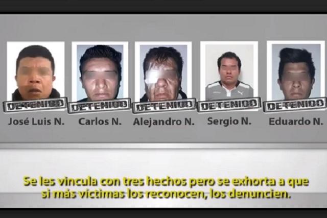 Cae banda que robaba y violaba a clientas de taxis en Puebla
