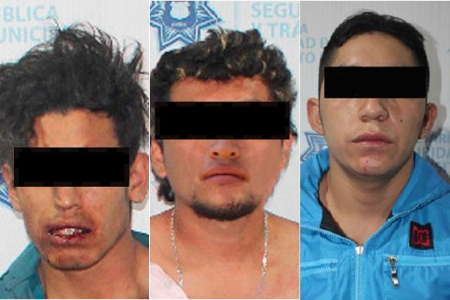Aseguran a 3 sujetos armados y con cocaína en la colonia Guadalupe