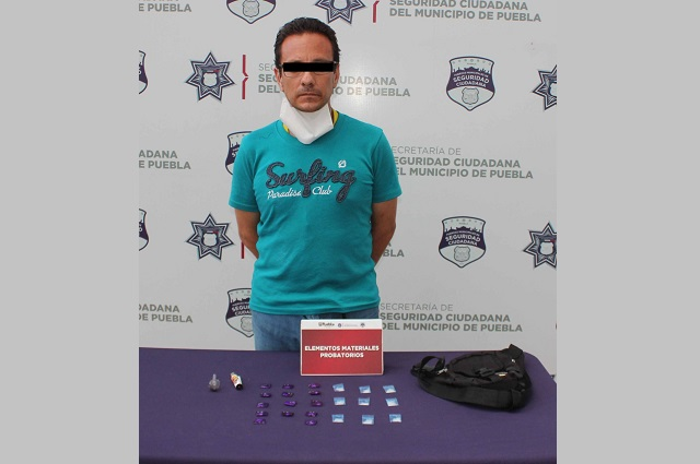 Detienen en Puebla capital a narcomenudista del Mercado Unión