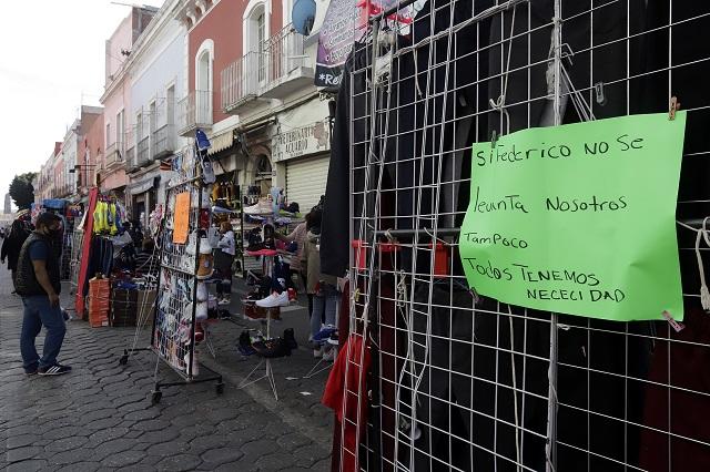Por la vía penal, Comuna de Puebla va contra líderes de ambulantes