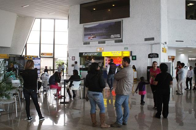 Crece cifra de vuelos hasta 51% en el aeropuerto de Puebla