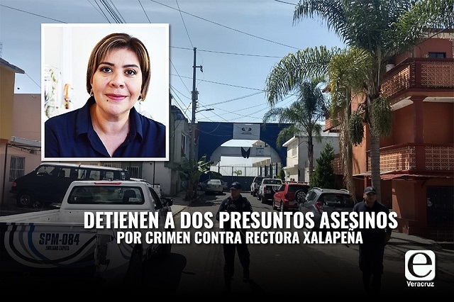 Detienen a dos por asesinato de rectora en Veracruz