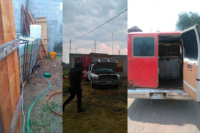 Ubican almacén en San Lucas El Grande con hidrocarburo robado