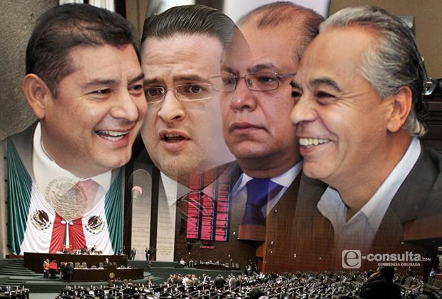 Amarra Maldonado Comisión junto a Piña, Giorgana y Armenta