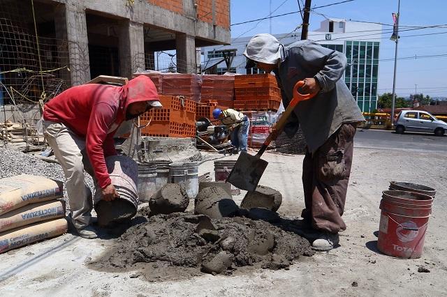 Sólo recobran 20% de trabajos en sector de la construcción