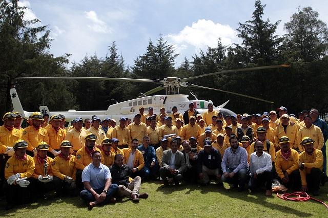 Combatientes de incendios, de Conafor, buscan prestaciones