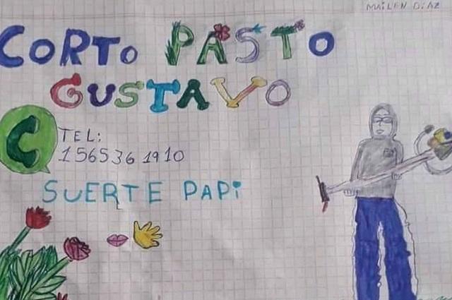 Viral: el tierno dibujo de una niña que ayudó a su papá a buscar trabajo