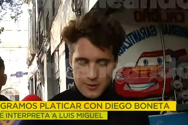 Video: Captan a Diego Boneta antes de grabar serie Luis Miguel