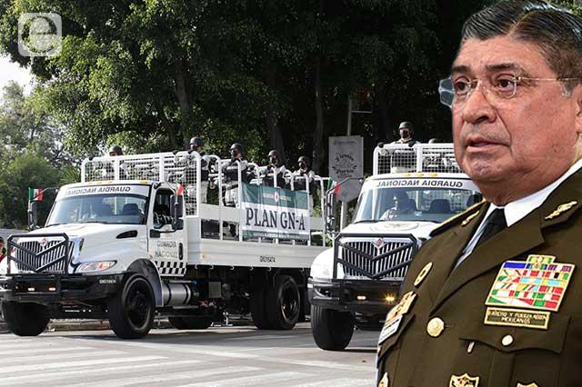 Aumentará presencia de la Guardia Nacional en Puebla